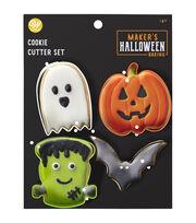 Wilton Cookie Cutters-Bat, Pumpking, Ghost, Frankenstein, , hi-res