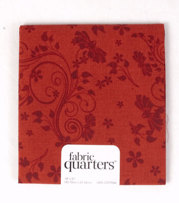 Fabric-Quarters Assorted Fabric-Red