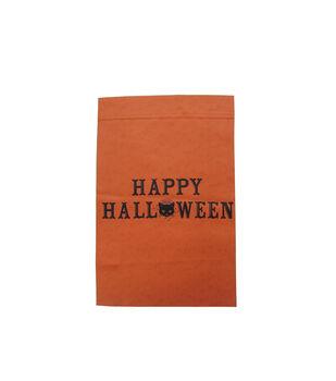 Maker's Halloween 12''x18'' Flag-Happy Halloween Cat