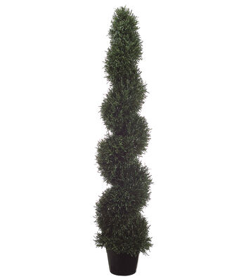 Bloom Room Luxe 60'' Rosemary Spiral Topiary-Green