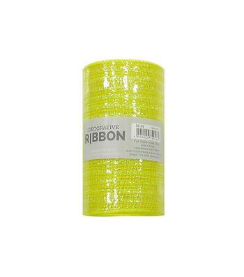 Decorative Ribbon Metallic Deco Mesh 5.5''x10 yds-Yellow