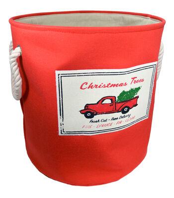 Christmas Large Soft Storage Bin-Christmas Trees & Car