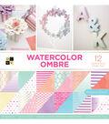 DCWV 36 Pack 12\u0027\u0027x12\u0027\u0027 Premium Stack Printed Cardstock-Watercolor Ombre