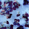 Luxe Flannel Fabric -Pressed Petals Lt Blue
