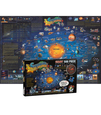 "Solar System Map Jigsaw Puzzle, 24"" x 36"", 500 Pieces"