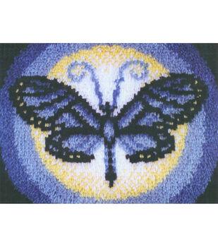 """Wonderart Latch Hook Kit 15""""X20""""-Butterfly Moon"""