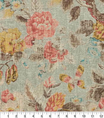 """Waverly Upholstery Fabric 13x13"""" Swatch-After Glow Twilight"""