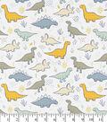Snuggle Flannel Fabric 43\u0027\u0027-Sweet Dinos on White