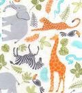 Nursery Flannel Fabric 42\u0022-Jungle