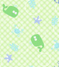 Snuggle Flannel Fabric -Whale & Hook