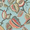 Waverly Upholstery Décor Fabric 9\u0022x9\u0022 Swatch-Fantasy Fleur Seaglass