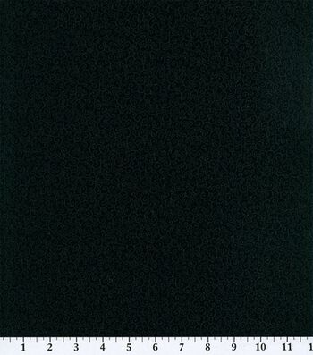 "Keepsake Calico Cotton Fabric 45""-Black Scroll"