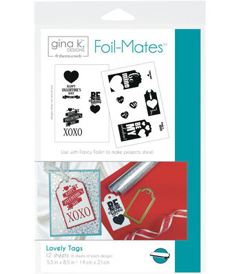 Gina K. Designs 12 pk 5.5''x 8.5'' Tags Foil-Mates-Lovely
