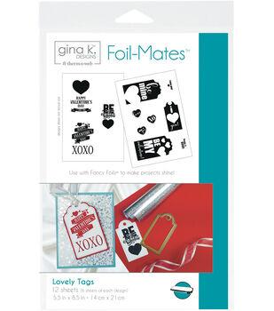 Gina K. Designs 12 pk 5.5''x 8.5'' Tags Foil-Mates-Lovely