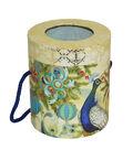 Christmas Cylinder Storage Box-Peacock
