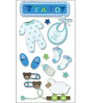 Jolee's Layered Foam Stickers-Baby Boy, , hi-res