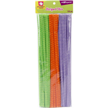 Fibre Craft Striped Stix Chenille Stems