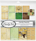 Reminisce Collection Kit 12\u0022X12\u0022-Family Tree, 8 Papers & Stickers