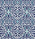 Robert Allen @ Home Upholstery Fabric 54\u0022-New Damask Marine