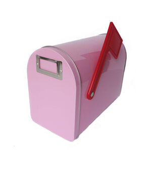 Hampton Art Wrap it Up Medium Mailbox-Pastel Pink