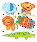 K&Company Dimensional Sticker-Zoo Animals