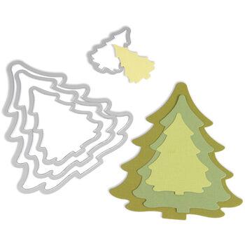 Sizzix Framelits Die Set Christmas Trees