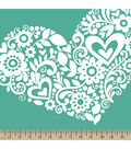 Anti-Pill Fleece Fabric 59\u0022-Cut Paper Hearts