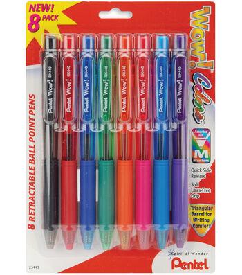 Pentel Wow! Colors Retractable Medium Ballpoint Pens-Assorted Colors