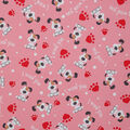 Valentine\u0027s Day Cotton Fabric-I Woof You on Pink