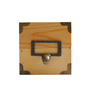 Unfinished Wood Box with Label Holder