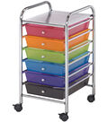 Storage Cart with 6 Drawers-Multi Color 13\u0022X26\u0022X15.5\u0022