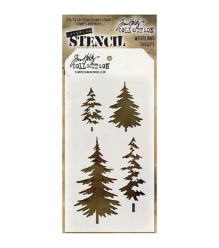 Stampers Anonymous Tim Holtz 413x85 Layered Stencil Woodland