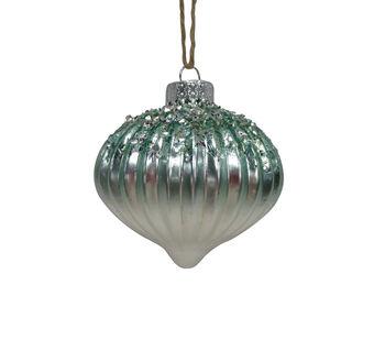 Handmade Holiday Christmas Frosty Seas Ornament-Blue