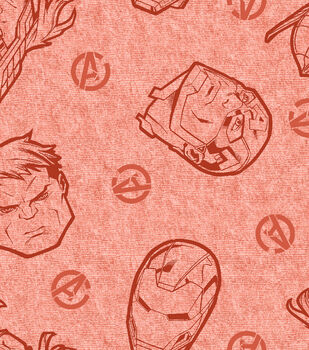 Marvel Comics Avengers Knit Fabric 58''-Tossed Head