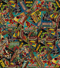 Marvel Comics Cotton Fabric -Retro Comic