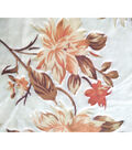 Boho Style Velvet Fabric -Burnout Peach Floral