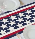 Americana Patriotic 18\u0027\u0027x60\u0027\u0027 Table Runner-Stars & Stitched Stripes