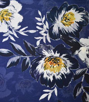 "Gianna 100% Silk Rayon Print Fabric 42""-Blossom Floral Mazar"