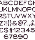Tim Holtz Thinlits 3/8\u0022 Dies-Alphanumeric