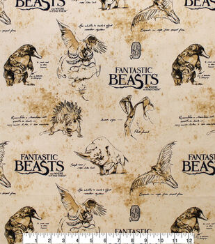 Fantastic Beasts Cotton Fabric-Texture