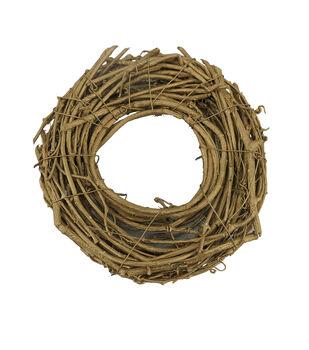 Handmade Holiday Christmas DIY Twig Mini Wreath-Gold