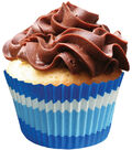 Jumbo Baking Cups 24/Pkg-Jumbo Blue Swirls