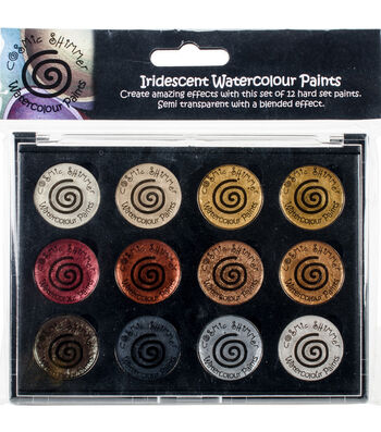Cosmic Shimmer Watercolour Paint Pallet Set-Iridescent Metallics