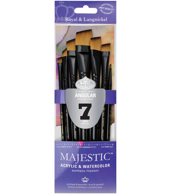 Royal & Langnickel Majestic 7 pk Angular Brushes