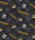 University of Missouri Tigers Flannel Fabric 42\u0022-Distressed Logo