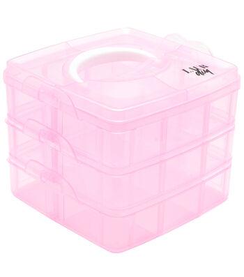 LaurDIY 3-Tier Pink Storage