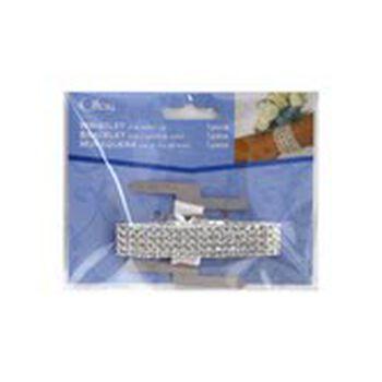 Offray Rhinestone Gem Wristlet with Metal Clip