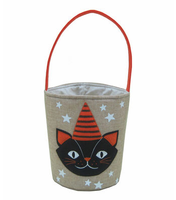 Maker's Halloween Trick or Treat Bag-Black Cat