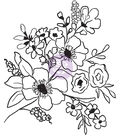 Christine Adolf Cling Rubber Stamps-Fresh Flowers #2