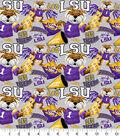 Louisiana State University Tigers Cotton Fabric-Collegiate Mascot